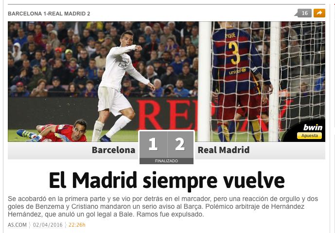 Il Real sbanca Barcellona e riapre la Liga