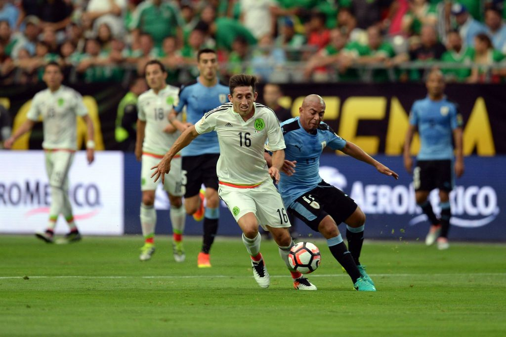 Herrera segna un gol e mezzo, Messico-Uruguay (3-1) è la partita più bella della Copa America