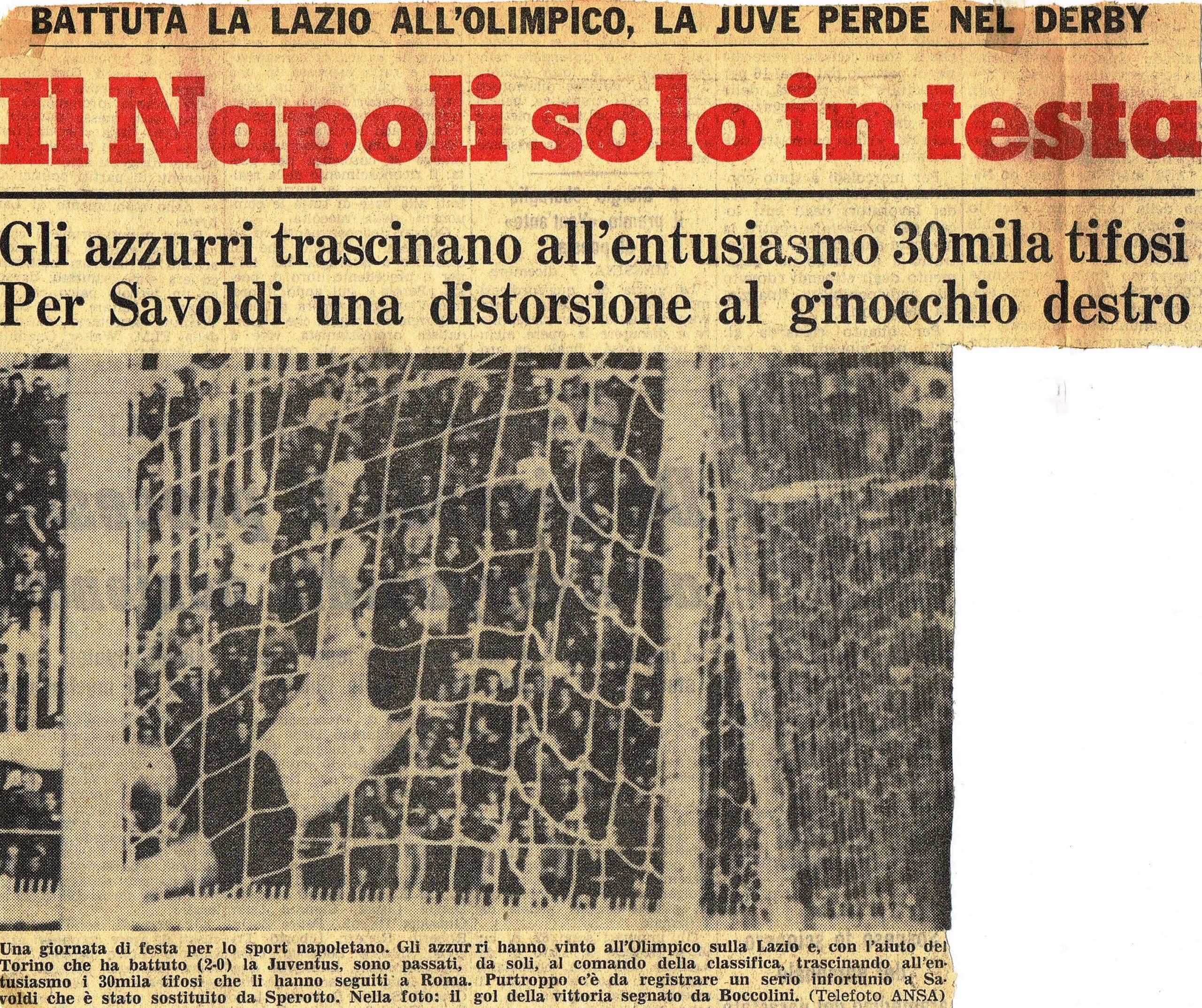 Lazio-Napoli, così Boccolini recuperò il pallone di Oj vita mia