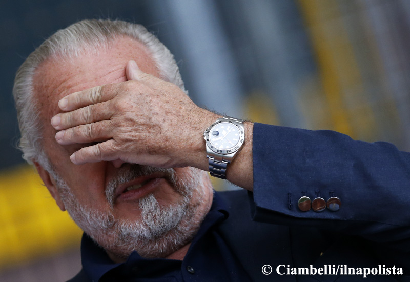 De Laurentiis conferma l'impotenza del Napoli sul mercato (silenzio sulla Juventus)