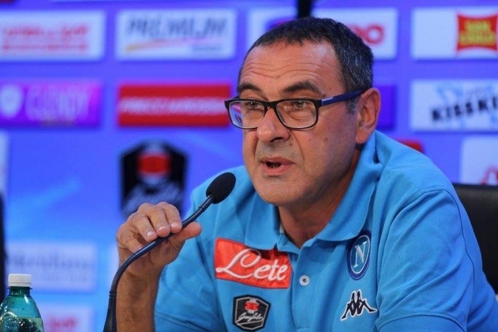 Sarri: «Dobbiamo crescere nella mentalità. A Torino vogliamo vincere, ma abbiamo già fatto tanto»