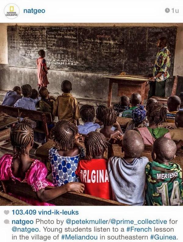 Così, grazie al cuore di Mertens, la mia foto potrà aiutare i bambini di Meliandou che lottano con Ebola