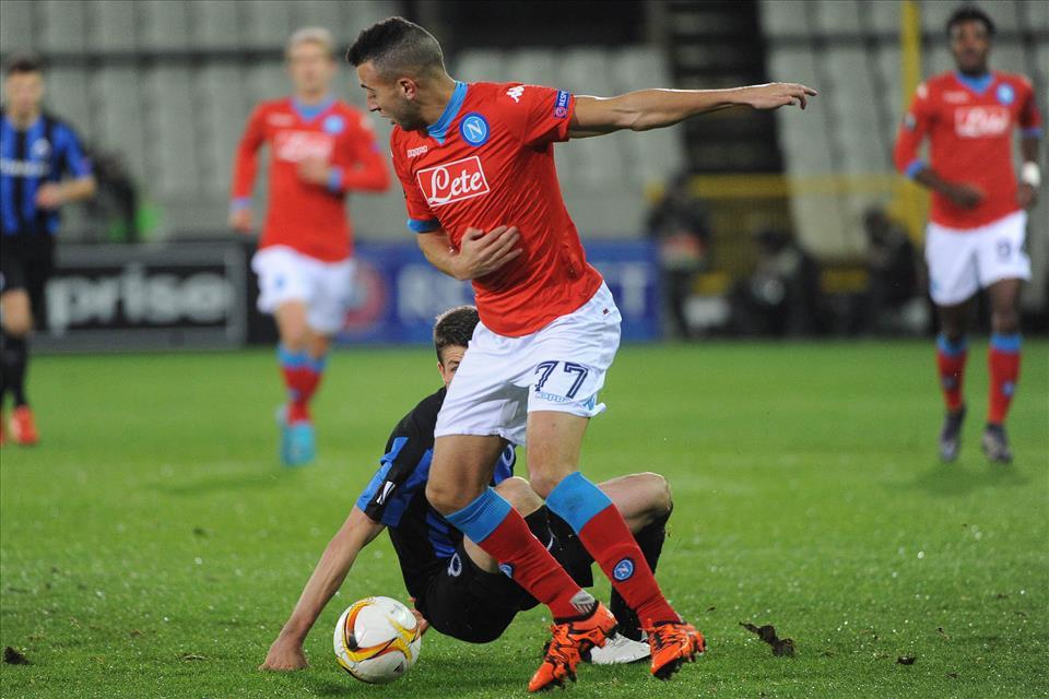 Bruges-Napoli 0-1, pagelle / Nove a El Kaddouri per le sue frasi sull'attentato di Parigi. E nove a Sarri che fa vincere anche il Napoli tre