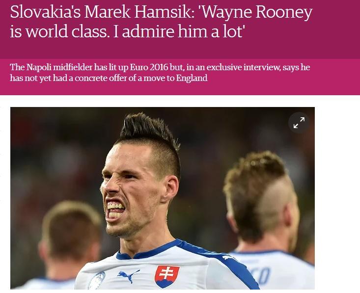 Hamsik ricorda al Guardian che vuole rimanere a Napoli nonostante le rapine