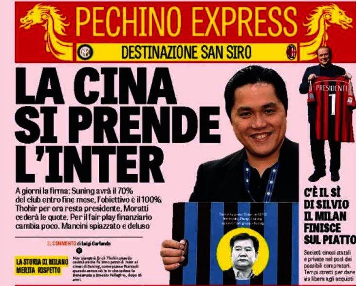 Cosa succede all'Inter: la Suning vuole la maggioranza (con le quote di Moratti), Thohir resterebbe presidente