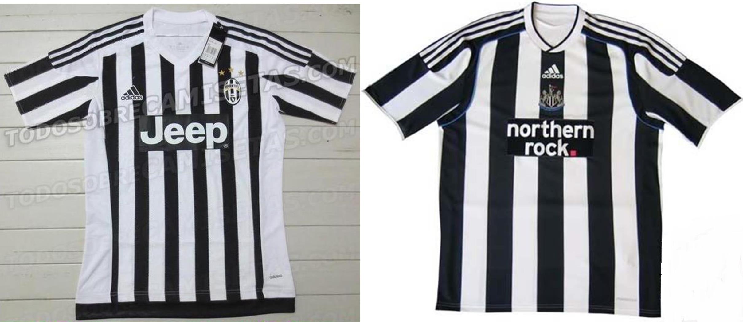 ccf85149a Il contratto con l'Adidas porta soldi ma anche maglie fac-simile: la nuova  della Juventus è come quella del Newcastle