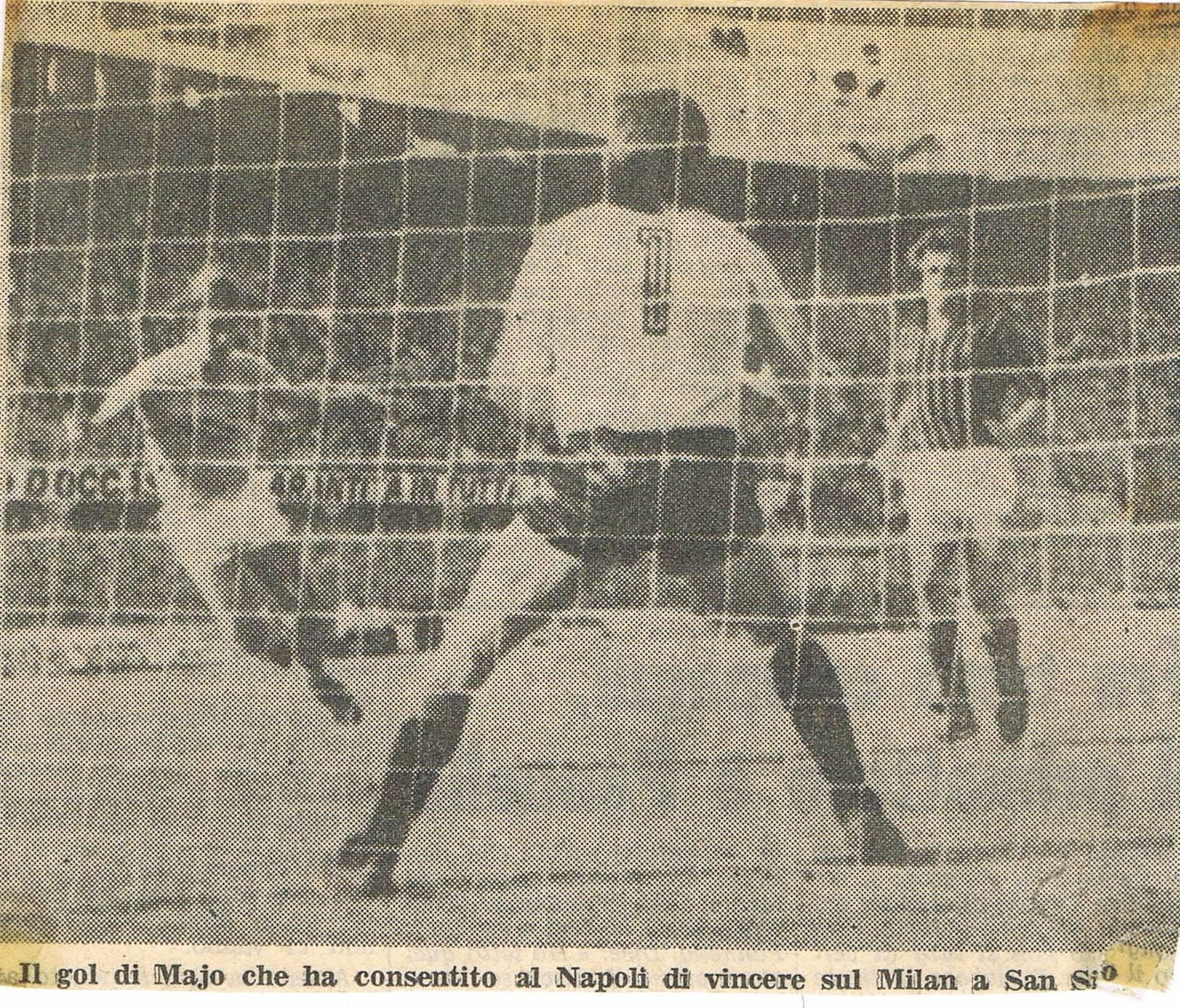 Quando il Napoli sbancò Milano con gol di Majo (e Carratelli gli diede 9)