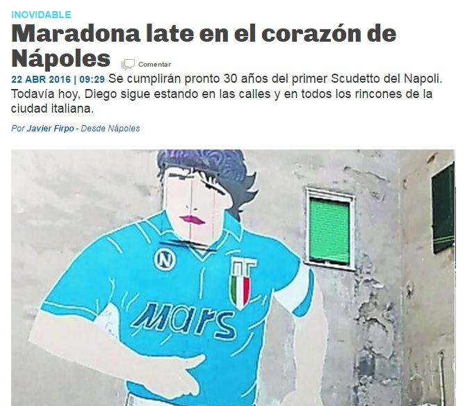 La Razon racconta Napoli e Maradona: «Nápoles irradia la vida y los valores de Diego»