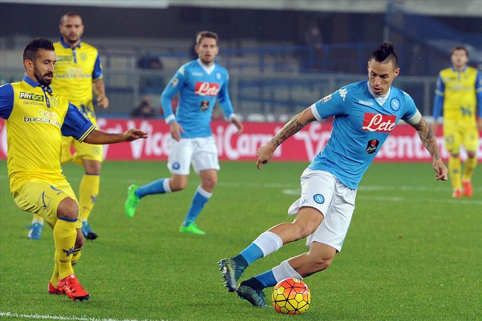Chievo-Napoli 0-1, pagelle /  Callejon guardiano sarrita, Albiol perfetta spalla di Koulibaly, Hamsik è il faro