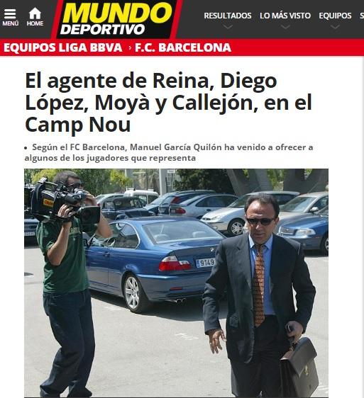 Il nulla sul Mondo Deportivo diventa Reina al Barcellona