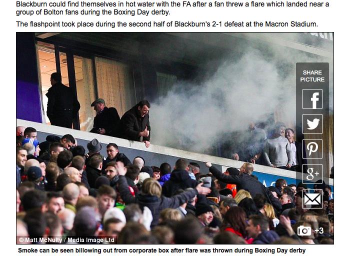 Anche il modello inglese ha le sue lacune: un razzo sparato in Bolton-Blackburn e l'Arsenal che ritira l'abbonamento a due tifosi perché stavano in piedi