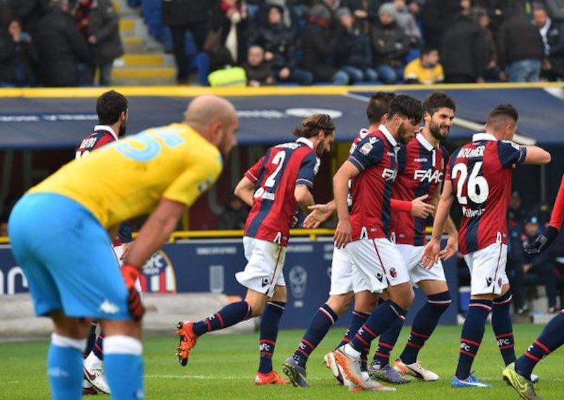 Il Napoli è meno brillante. Il Bologna gioca bene e vince 3-2. Nulla è perduto, bisogna restare calmi