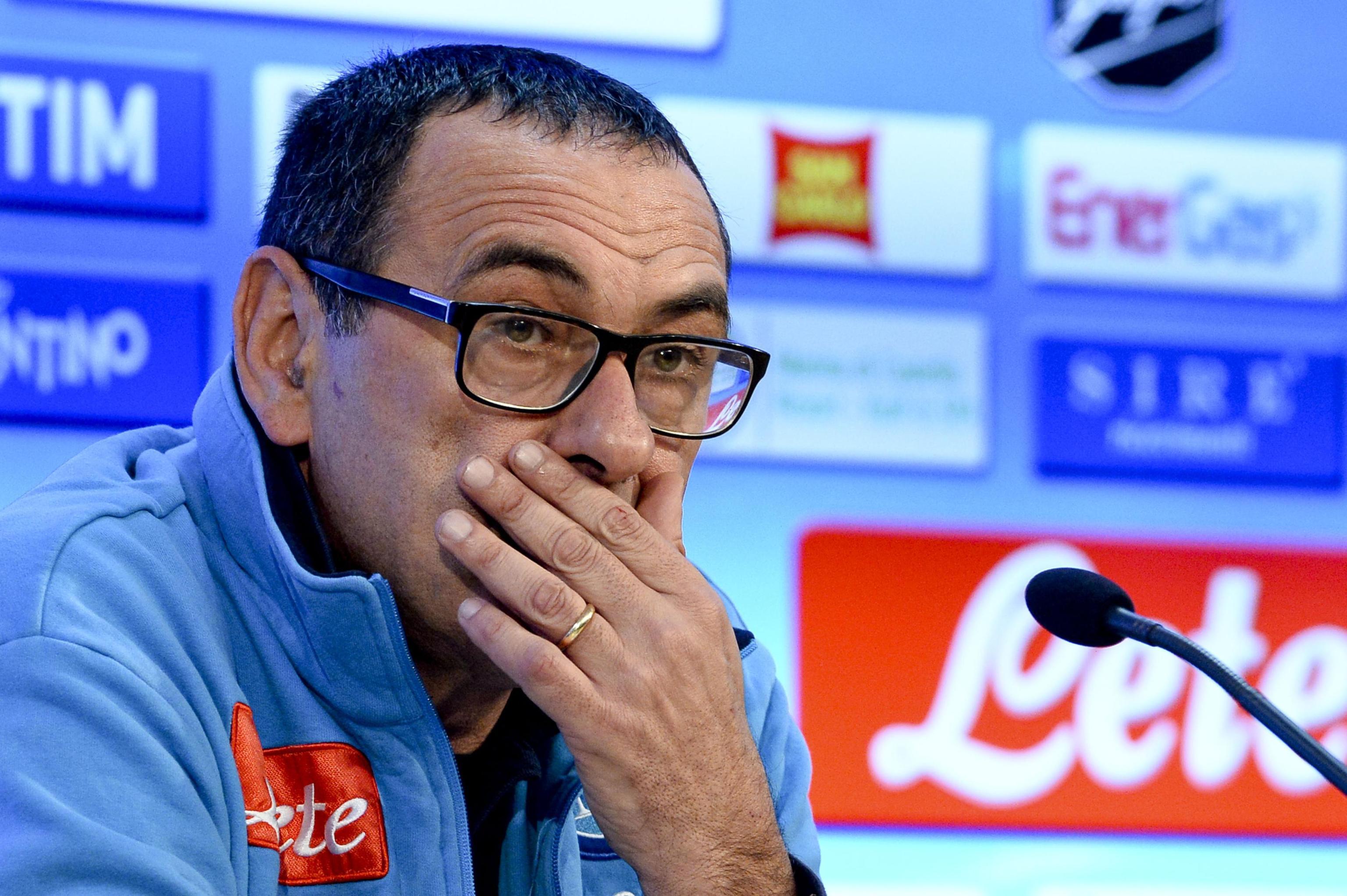 Sarri: «Calendario Napoli-Juventus, la Lega ha fatto una cazzata clamorosa»