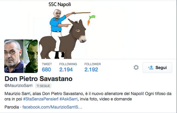 Da Boskov a Sarri, «gli account fake su Twitter sono la statua di Pasquino del Duemila»
