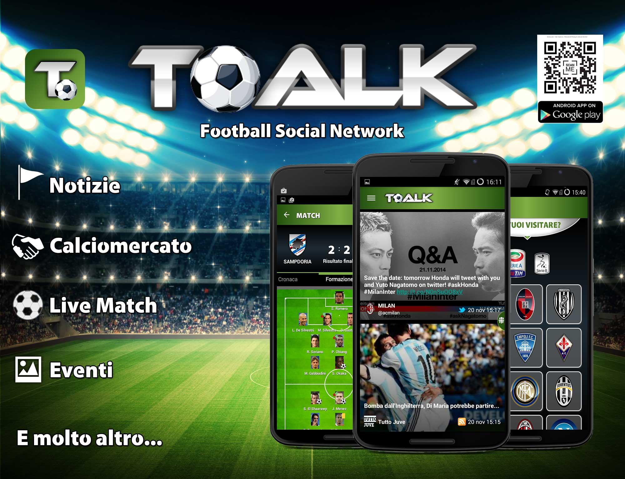 Nasce TOALK, il social verticale del calcio