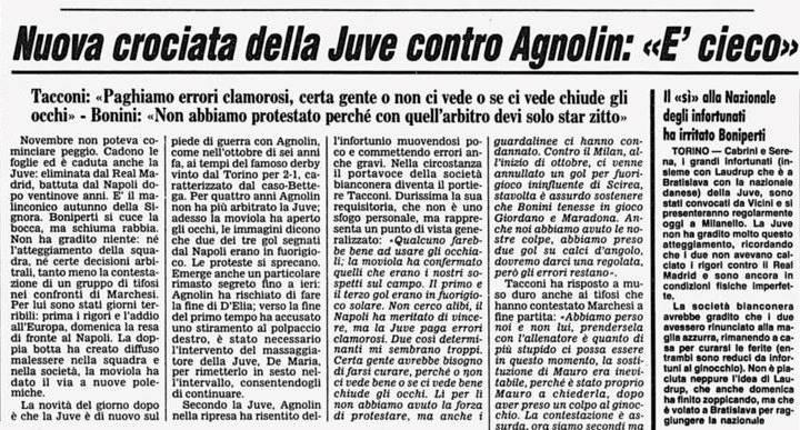 Quando a piangere per gli arbitri era la Juventus