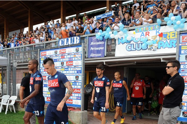 Da oggi Napoli e Cagliari si allenano in Val di Sole