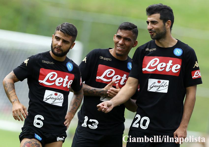 Le amichevoli del Napoli durante il ritiro di Dimaro, dalla Bassa Anaunia al Chievo
