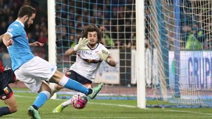 Napoli-Genoa 3-1, pagelle / Higuain tiene in vita il sogno della bestemmia. Sarri come il Molosso. La Juve deve morire pazza
