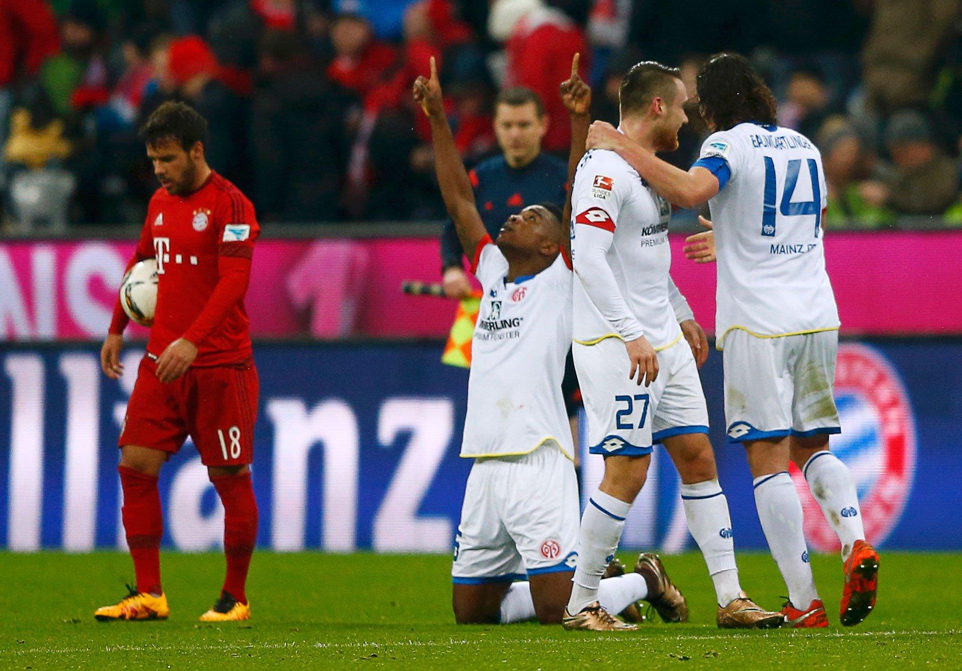 Il Mainz vince 2-1 in casa del Bayern di Guardiola e riapre la Bundesliga