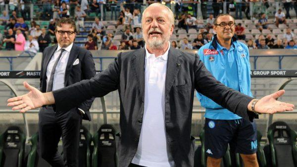 De Laurentiis: «Al Napoli mancano 6-8 punti per il Var. Il futuro dipende da Sarri»