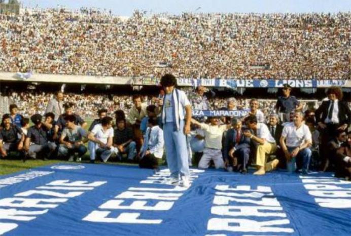 Maradona, il giorno della presentazione al San Paolo
