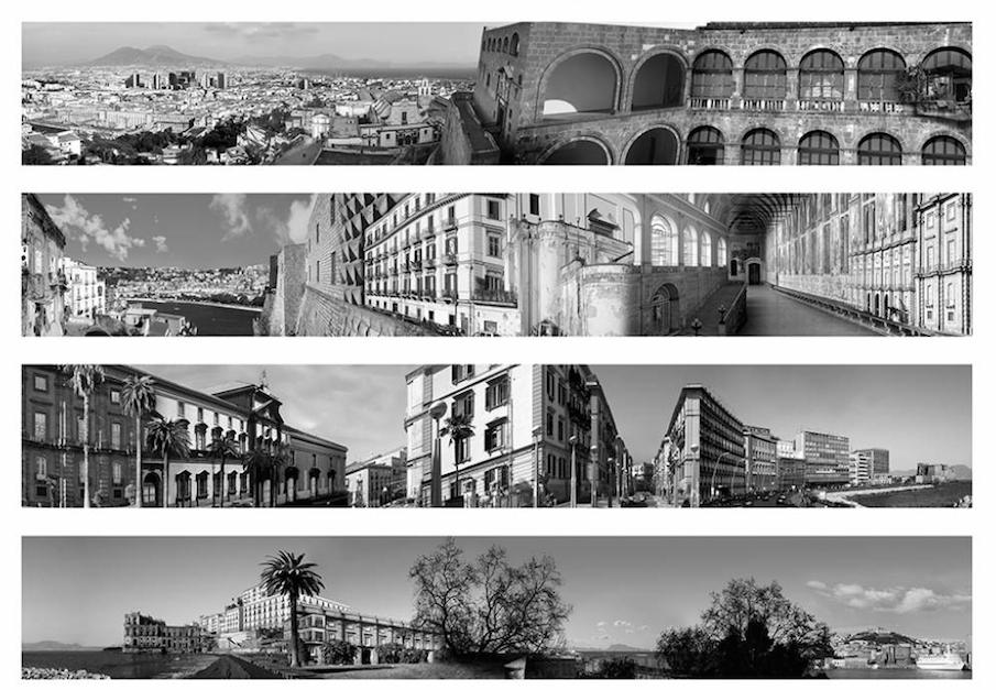 Il panorama di Napoli che si ispira alle Metamorfosi di Escher