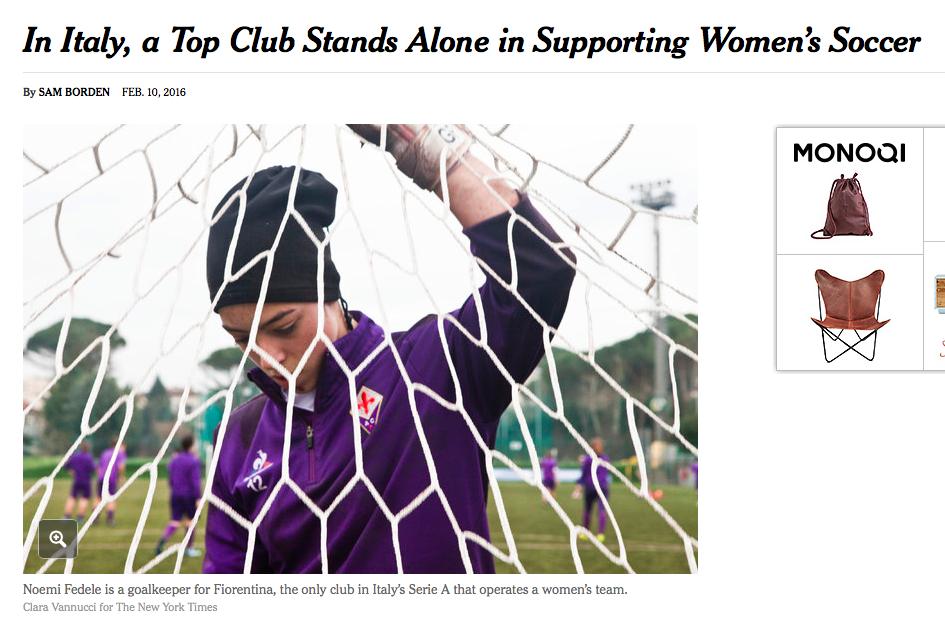 Il Nyt racconta l'anomalia italiana dei grandi club che ignorano il calcio femminile (tranne l'eccezione Fiorentina)