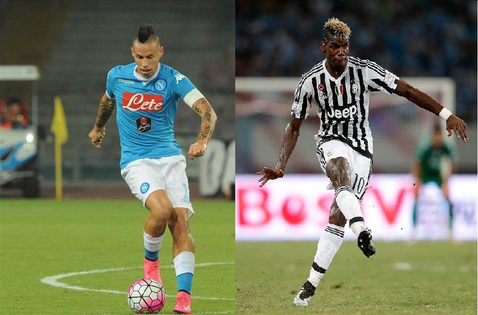 Hamsik e Pogba, il duello a centrocampo: lo slovacco è il faro del Napoli, il francese è un bellissimo lusso per la Juventus