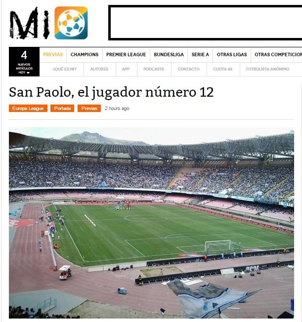 Per MarcadorInt, questa sera il San Paolo sarà «el jugador número 12»