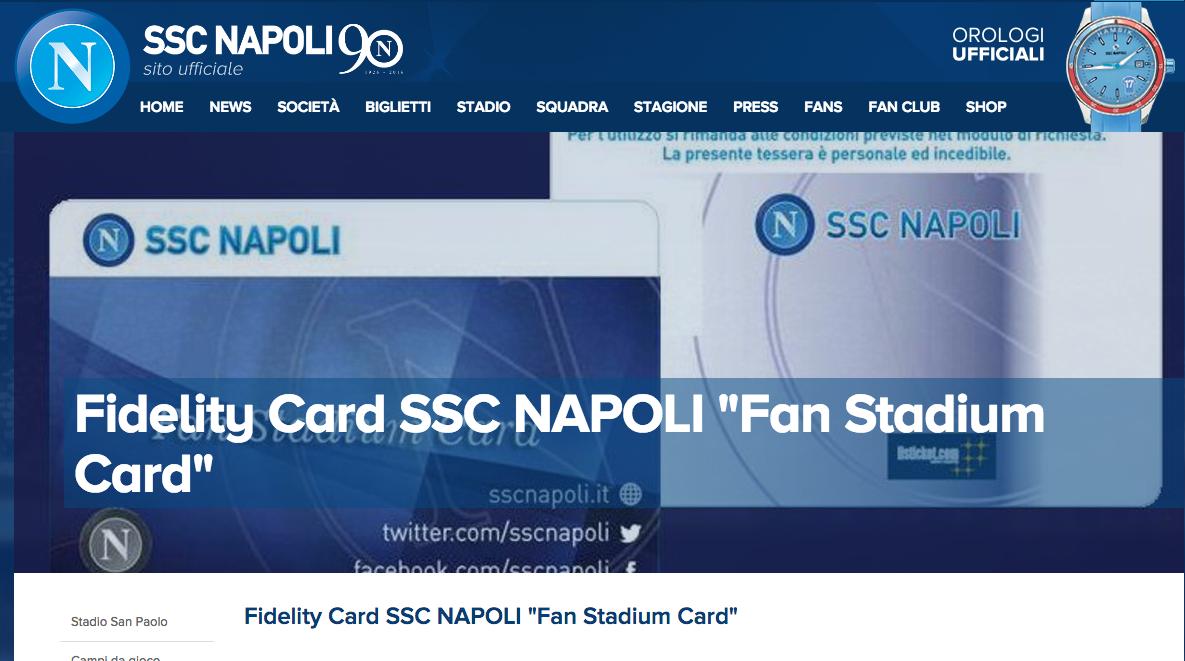 Non vorrei rovinarvi la leggenda ma sul sito del Napoli si comprano biglietti on line con tre clic