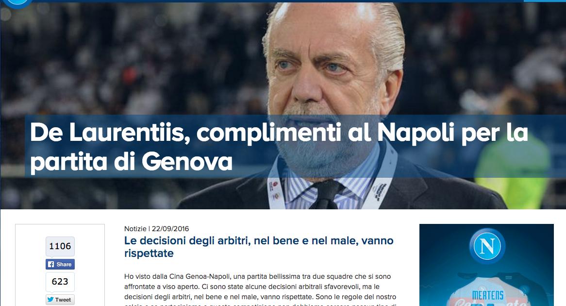 De Laurentiis: «Spesi 128 milioni per dare a Sarri e ai napoletani una squadra competitiva»
