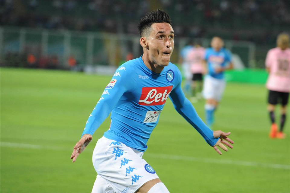 Il Napoli in vantaggio allo Juventus Stadium 1-0 (primo tempo)