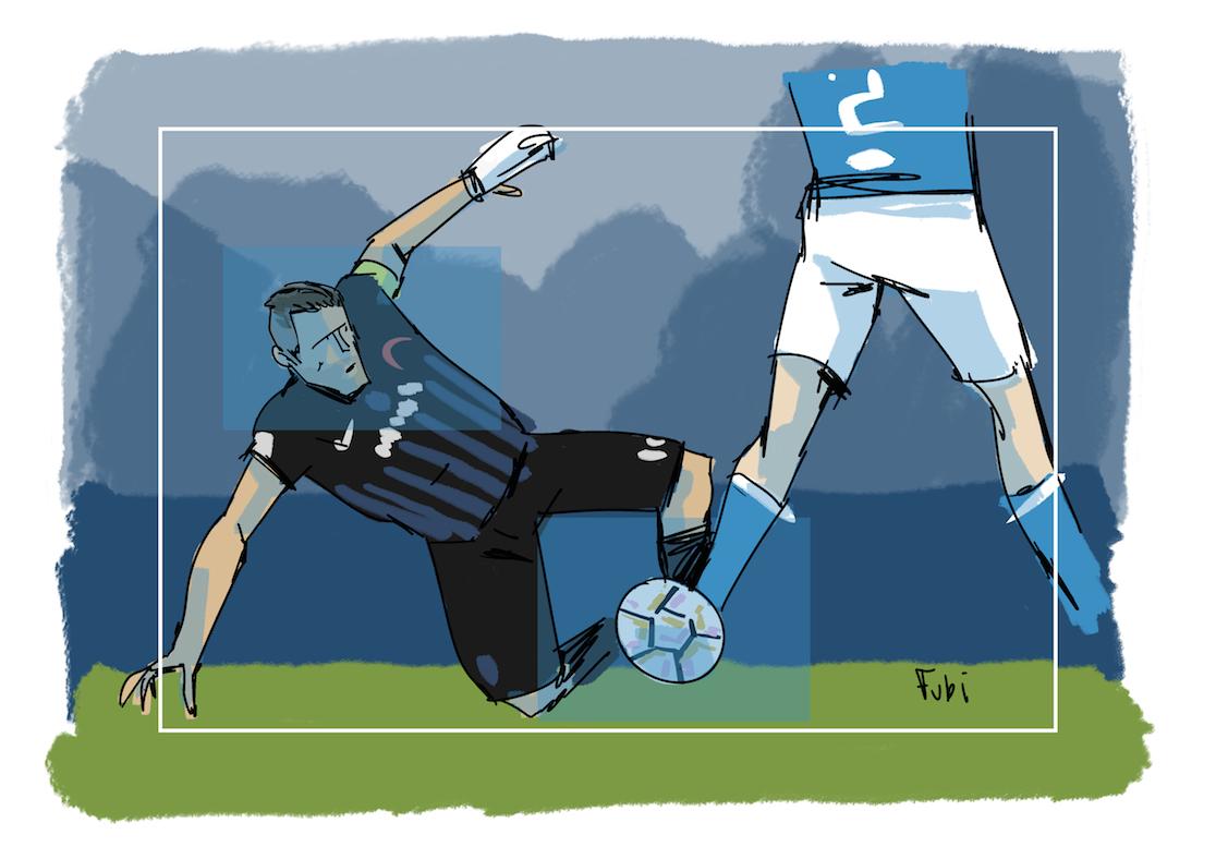 La scivolata del Papu Gomez che porta al gol di Petagna