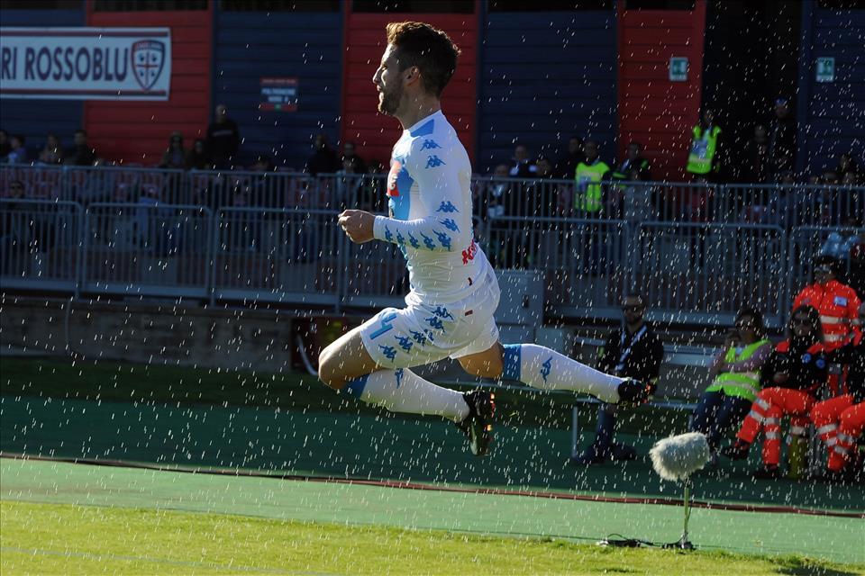 I tre gol di Mertens, capocannoniere del Napoli: oggi è un centravanti vero