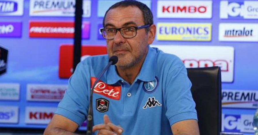 Sarri: «Non credo ai luoghi comuni del calcio che per vincere si debba giocare male»