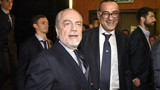 L'incontro tra Sarri e De Laurentiis