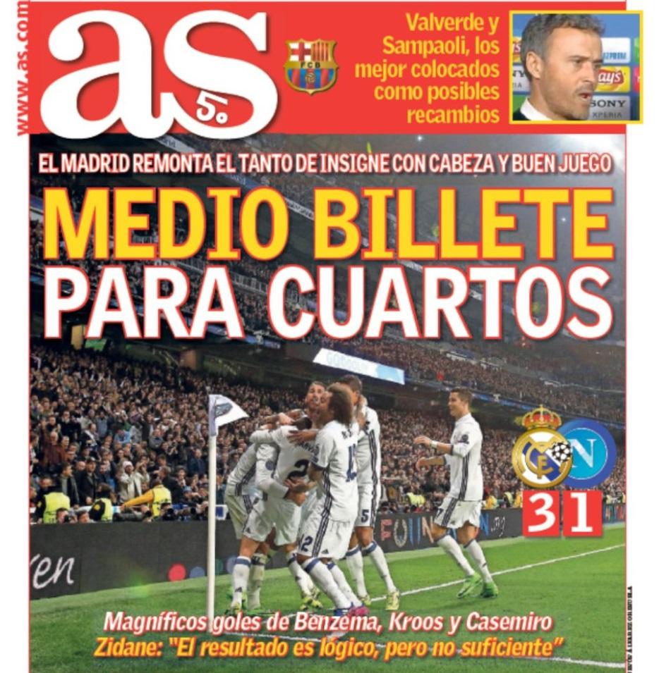 La stampa spagnola elogia il Madrid, ma pure il Napoli: «Come il Dortmund di Klopp»