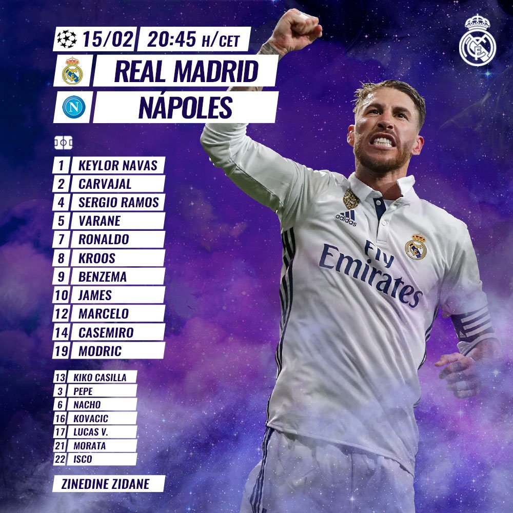 La formazione ufficiale del Real Madrid: Zidane a sorpresa, James titolare