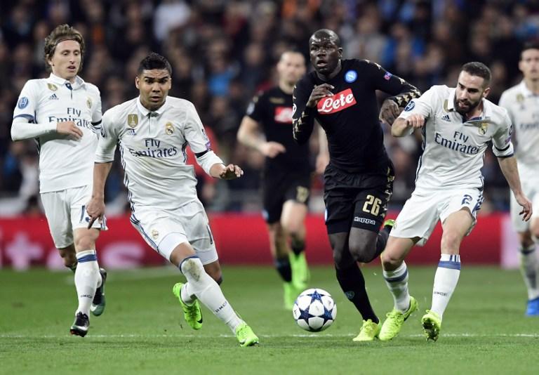 Per la Uefa, il Napoli ha meno di una possibilità su quattro di eliminare il Real Madrid
