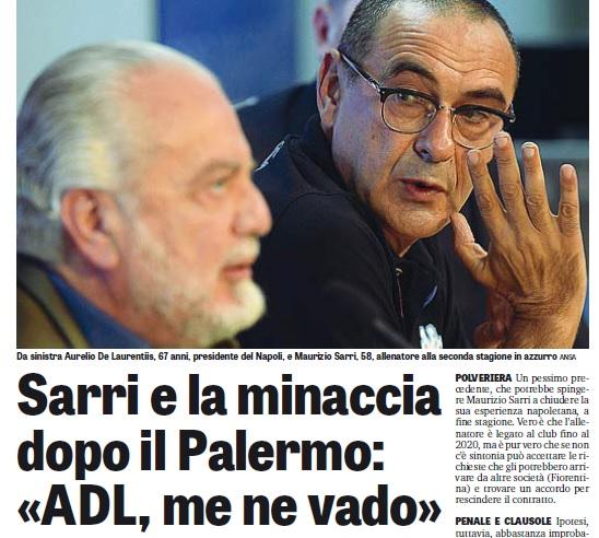 Perché il turbolento post-partita di Napoli-Palermo emerge soltanto ora?