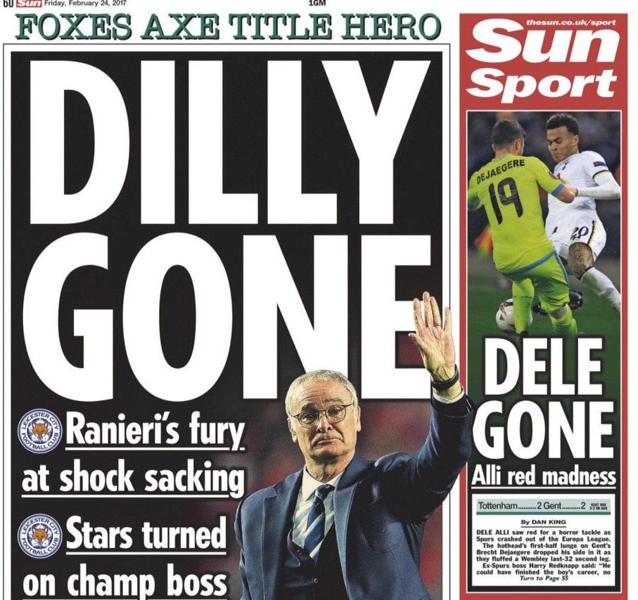 #RanieriOut, tutto il mondo contro il Leicester: da Mourinho a Lineker