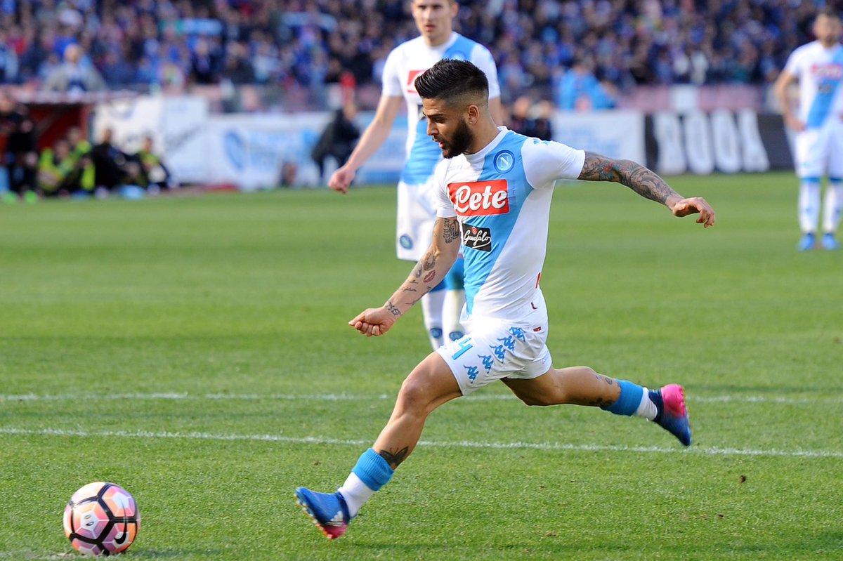 Empoli-Napoli 0-3 primo tempo. Doppietta Insigne, Zico Mertens