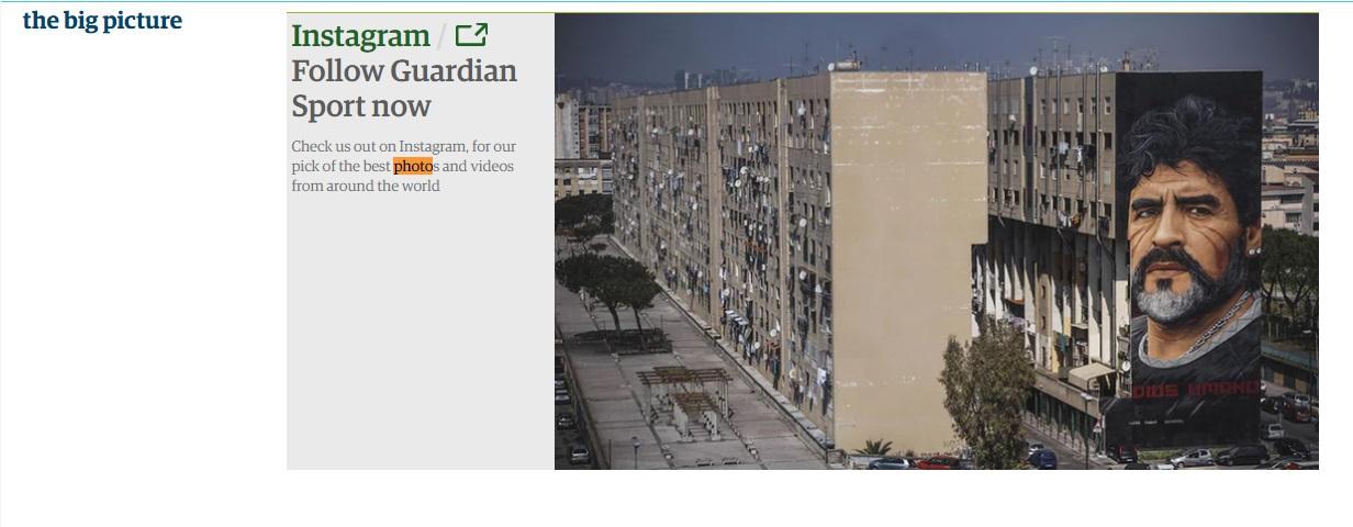 Maradona ringrazia Jorit: il murales a San Giovanni è la foto del giorno sul Guardian