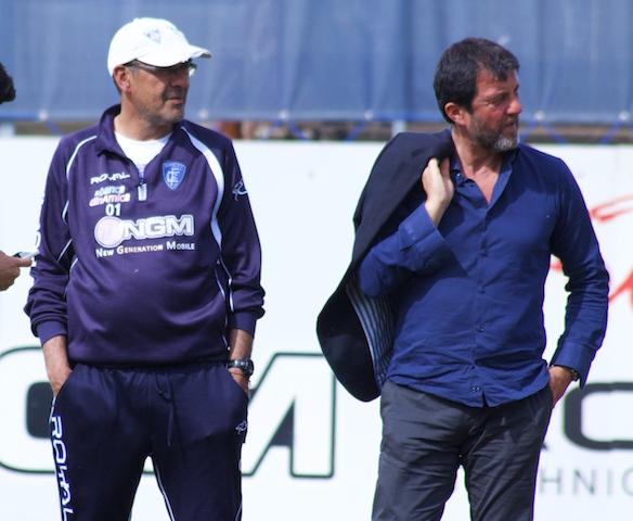 Carli, ds Empoli: «Sarri non dimentichi mai il coraggio che De Laurentiis ha avuto con lui»