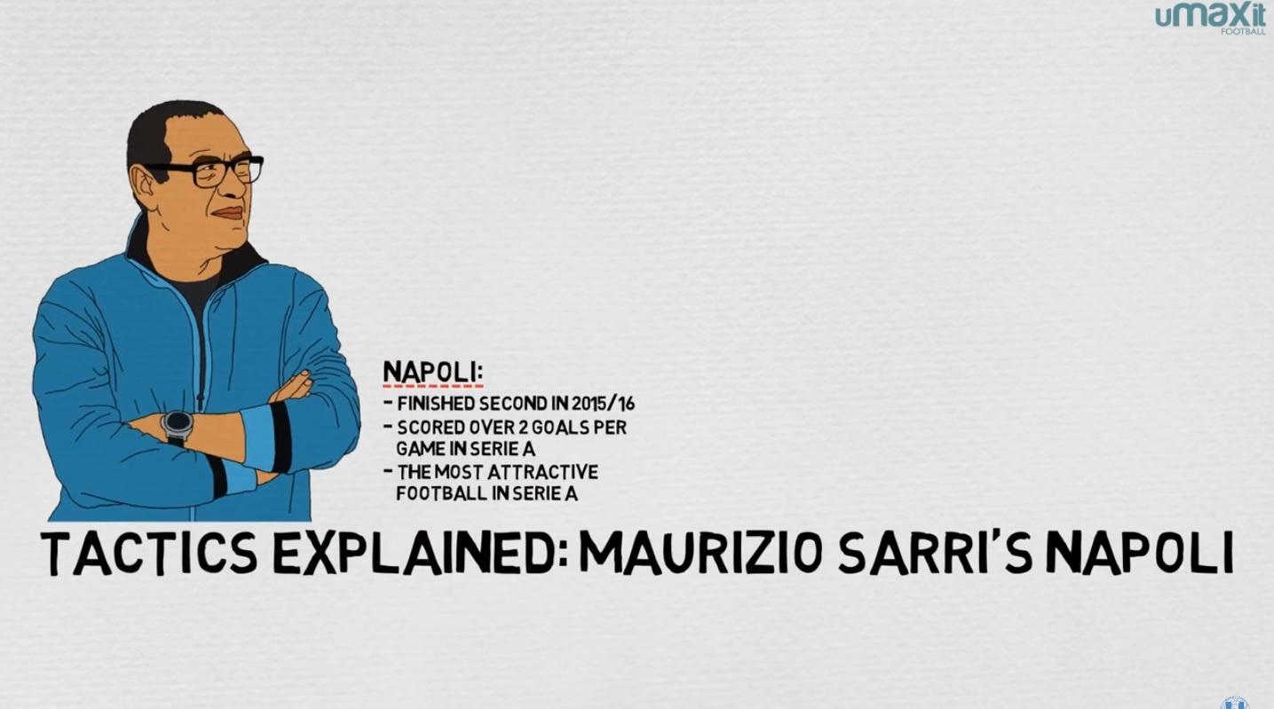VIDEO – Il Napoli di Maurizio Sarri spiegato (con la penna) da uMAXit Football