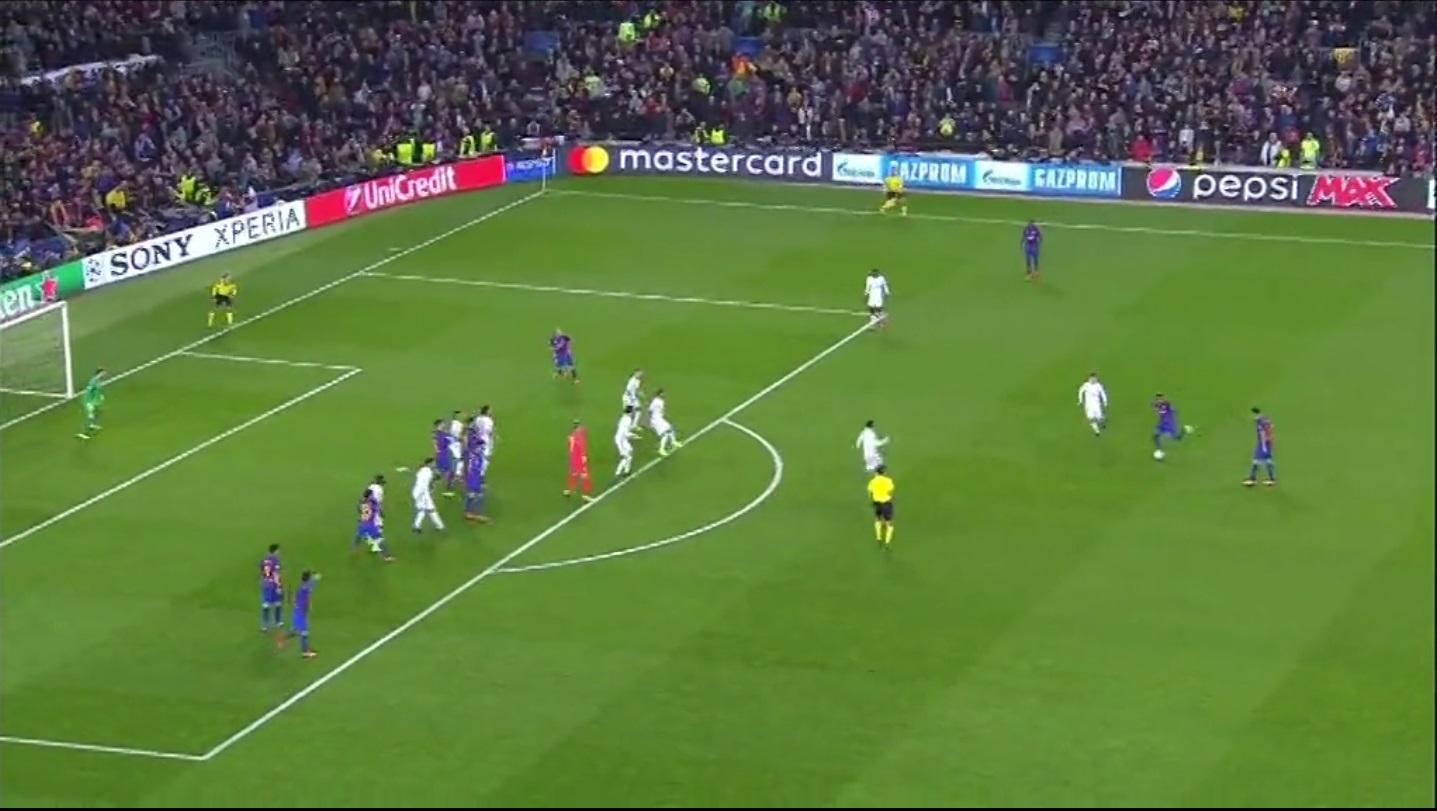Real Madrid e Barcellona marcano a uomo sui calci piazzati