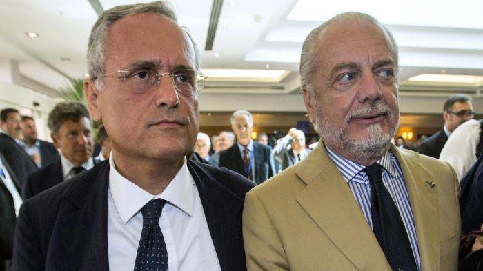 Repubblica: De Laurentiis appoggia Lotito per la presidenza Figc, «ci mette la faccia»