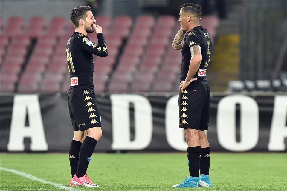 Napoli, 32 punti nel girone di ritorno. Media di 2,46 che varrebbe 93-94 punti finali