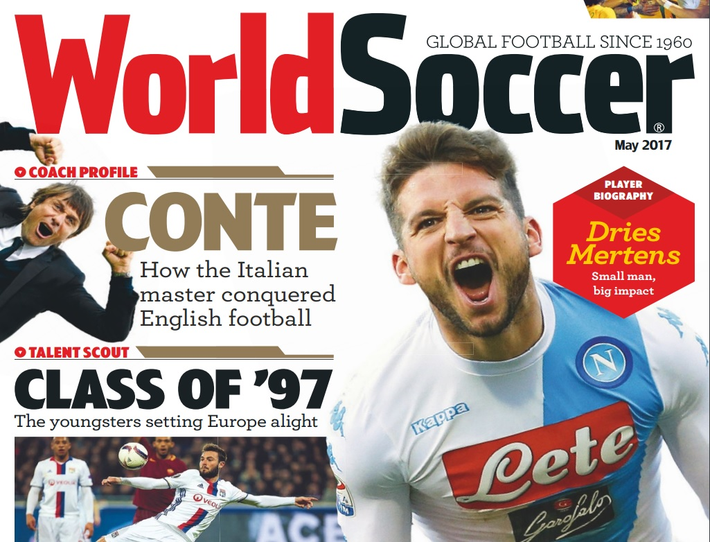 Mertens sulla copertina di World Soccer: «Un piccolo attaccante, un grande impatto»